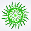 Flowers green vector ornament detail - ベクター素材ストック