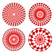 red spirograph ornament tattoo — Stock Vector