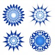 Blue spirograph ornament tattoo - Stock Vector