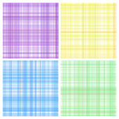 Set of pastel stripes plaid — Stock Vector