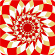 Folklore red kaleidoscope background — Stock Photo