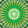 Folklore green and yellow kaleidoscope background — Stock Vector