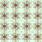 Flowers vintage pattern wallpaper — Stock Vector