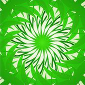 Organic green kaleidoscope background — Stock Vector