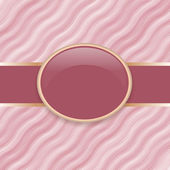 Art retro pink wave cover — Stock Vector