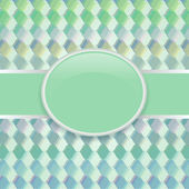 Pop art green retro cover — Stock Vector