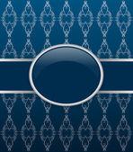 Invito card ornato blu scuro — Vettoriale Stock