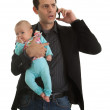 Businesman with his baby girl — Stock Photo #7154585