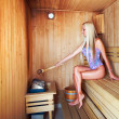 In a sauna — Stock Photo