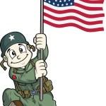 soldado americano — Vector de stock