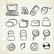 Set of technology icon — Stock Vector