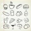 Sketchy food icon — Stock Vector #6794392