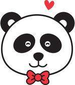 Panda lindo enamorarse — Vector de stock