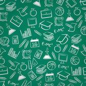 Sfondo di istruzione senza soluzione di continuità — Vettoriale Stock