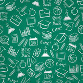 Seamless education background — Stok Vektör