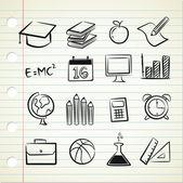 Sketchy school icon — Stock Vector