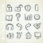Sketchy icon — Stock Vector