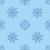 Christmas background with snowflakes — Stok Vektör