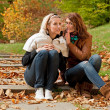 Girls in park — Stock Photo