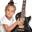 Child with guitar — Stock Photo