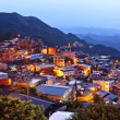 Chiu fen village at night, in Taiwan - Stockfoto