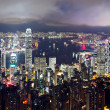 City at night, Hong Kong - Foto Stock