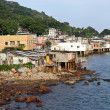 Fishing village of Lei Yue Mun in Hong Kong - Stock Photo