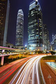 晚上在城市交通 — 图库照片