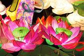 Lotus lantern for mid autumn festival — Stock Photo