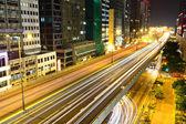 Moderní město v noci — Stock fotografie