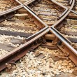 Train Rails — Stockfoto