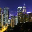 Hong Kong downtown at night — Stock Photo #6958870