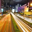 Stock Photo: Modern urbat night in Hong Kong