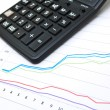 Royalty-Free Stock Photo: Business table with chart and calculator