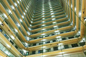 Apartment building at night — Stock Photo