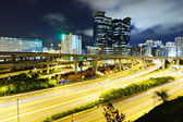 Modern urban landscape at night — Stock Photo