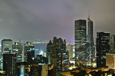 Hong Kong at mid night — Stock Photo