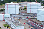 Oil product storage tanks — Stock Photo