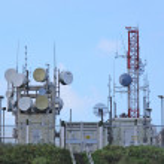 Radio transmitter antenna station — Stock Photo
