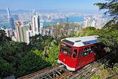 Tourist tram at the Peak, Hong Kong — Stock Photo