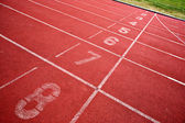 Lanes of running track — Stock Photo