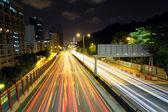 Autostrada di notte — Foto Stock