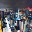 Hong Kong with crowded building at night — Stock Photo #7358836