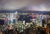 Hong Kong skyline at night — Photo