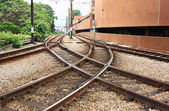 Train Rail — Stock Photo
