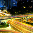 Highway at night in modern city — Stock Photo #7524125