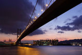 Tsing ma bridge — Stock Photo