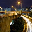 Traffic at night in city — Foto Stock