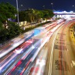 Traffic at night in city — Stock Photo