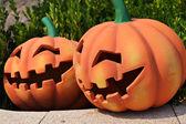 Pumpkin face — Stock Photo